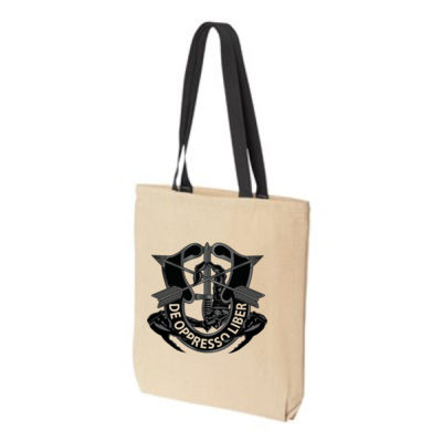 Gusseted Canvas Tote Thumbnail